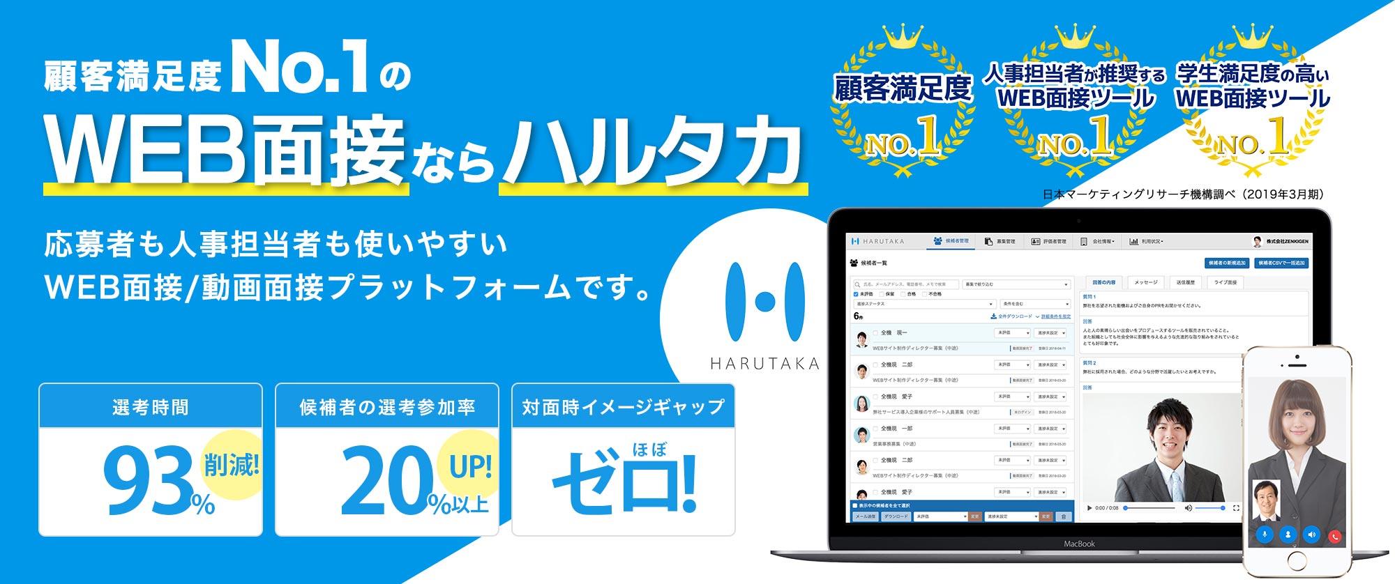 圧倒的な顧客支持率「HARUTAKA」